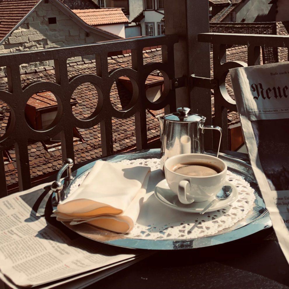 Kaffee Balkon